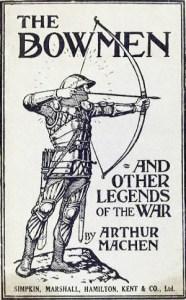 Arthur Machen, bowmen, angel of Mons