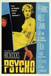 Psycho movie poster, Hitchcock, Robert Bloch