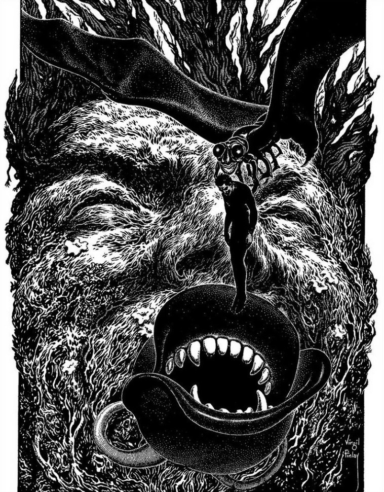 Virgil Finlay, Feedbag, Weird Tales,
