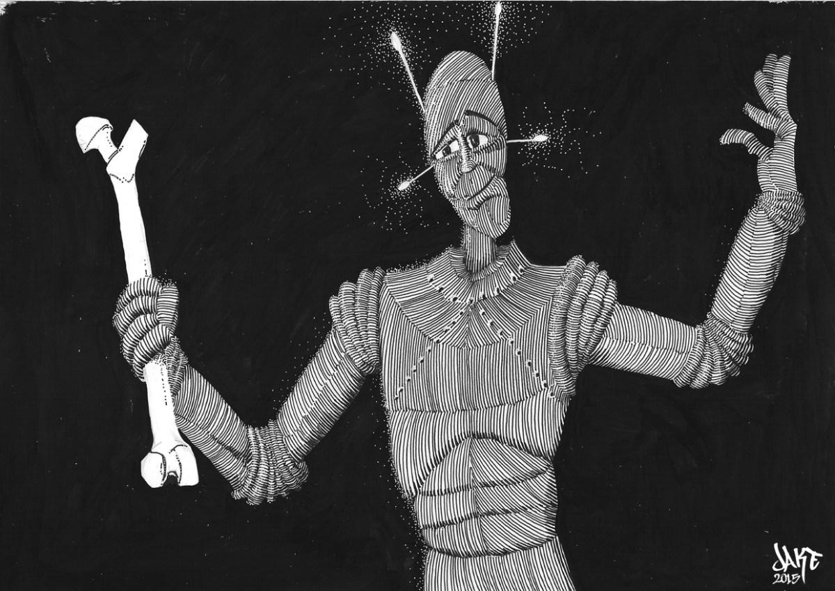 Micro-fiction 019 - Bone (Robot series)