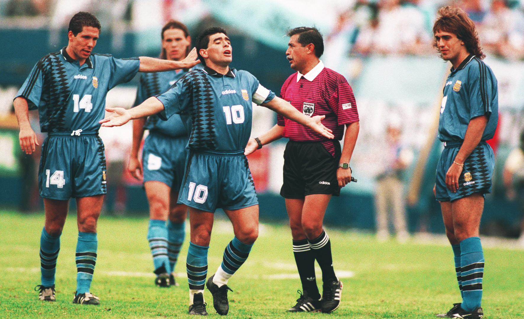 Diego Maradona at World Cup 1994: the fallen angel