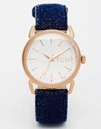 French Connection Watch With Denim Strap (£33.50) / Reloj con Correa Denim de French Connection (45,89 €) - ASOS