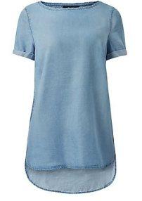 Light Blue Dip Hem T-shirt (£17.99) / Camiseta Azul Asimétrica (22,99 €) - NEW LOOK