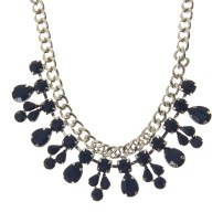 Silver and Navy Statement Bib Necklace (£10.00) / Collar Plateado & Navy (12,99€) - Claire's