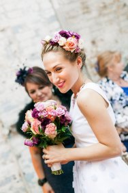 Sophia Webster colourful crown and bouquet