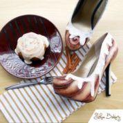 Shoe Bakery Cinnamon Bun Heels