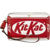 Kit Kat leather clutch: Anya Hindmarch