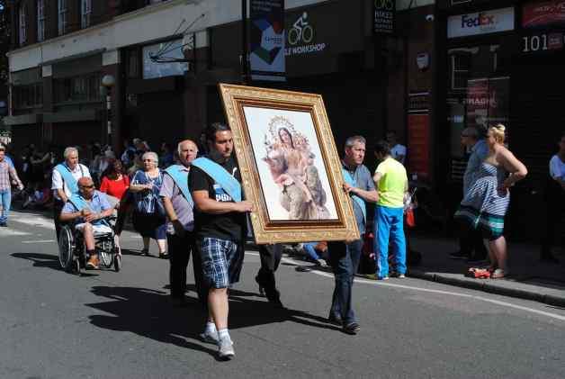 Italian procession Clerkenwell