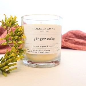 Soy candle ginger cake