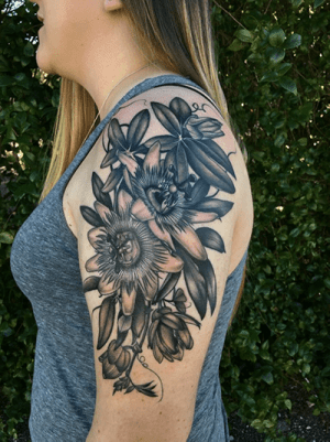 Floral tattoo on arm