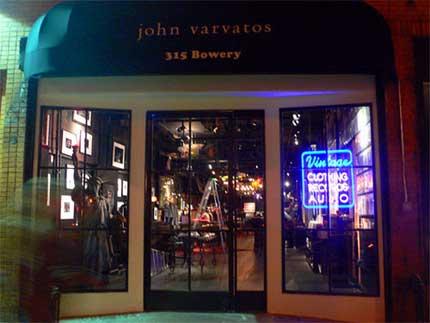 Varvatos on Bowery