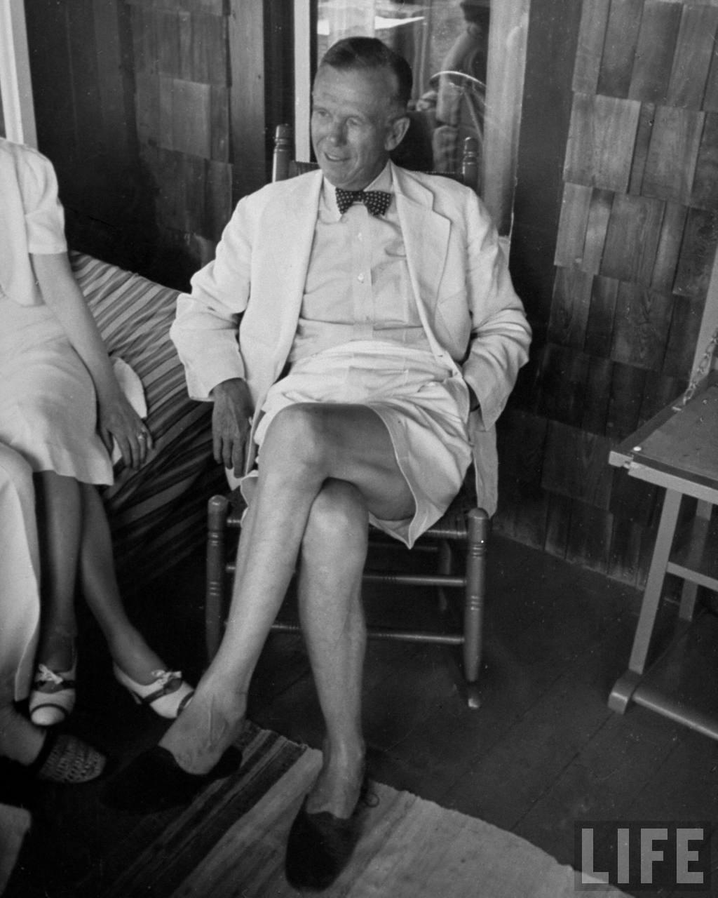 bermuda shorts bow tie jacket menswear