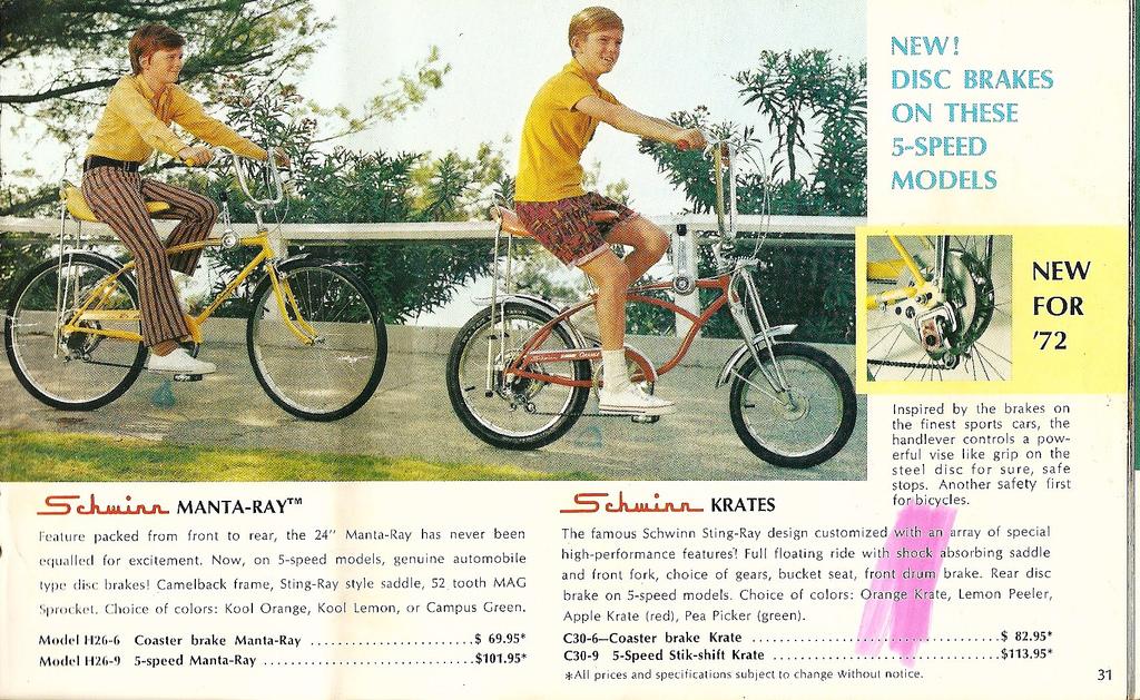Vintage Schwinn Stingray bicycle ad.