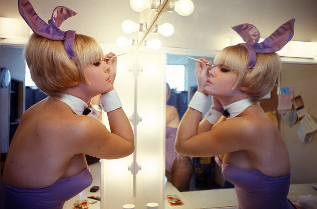 Playboy Bunny getting ready to work her magic.