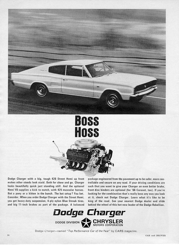 1966 Dodge Charger-- Boss Hoss!
