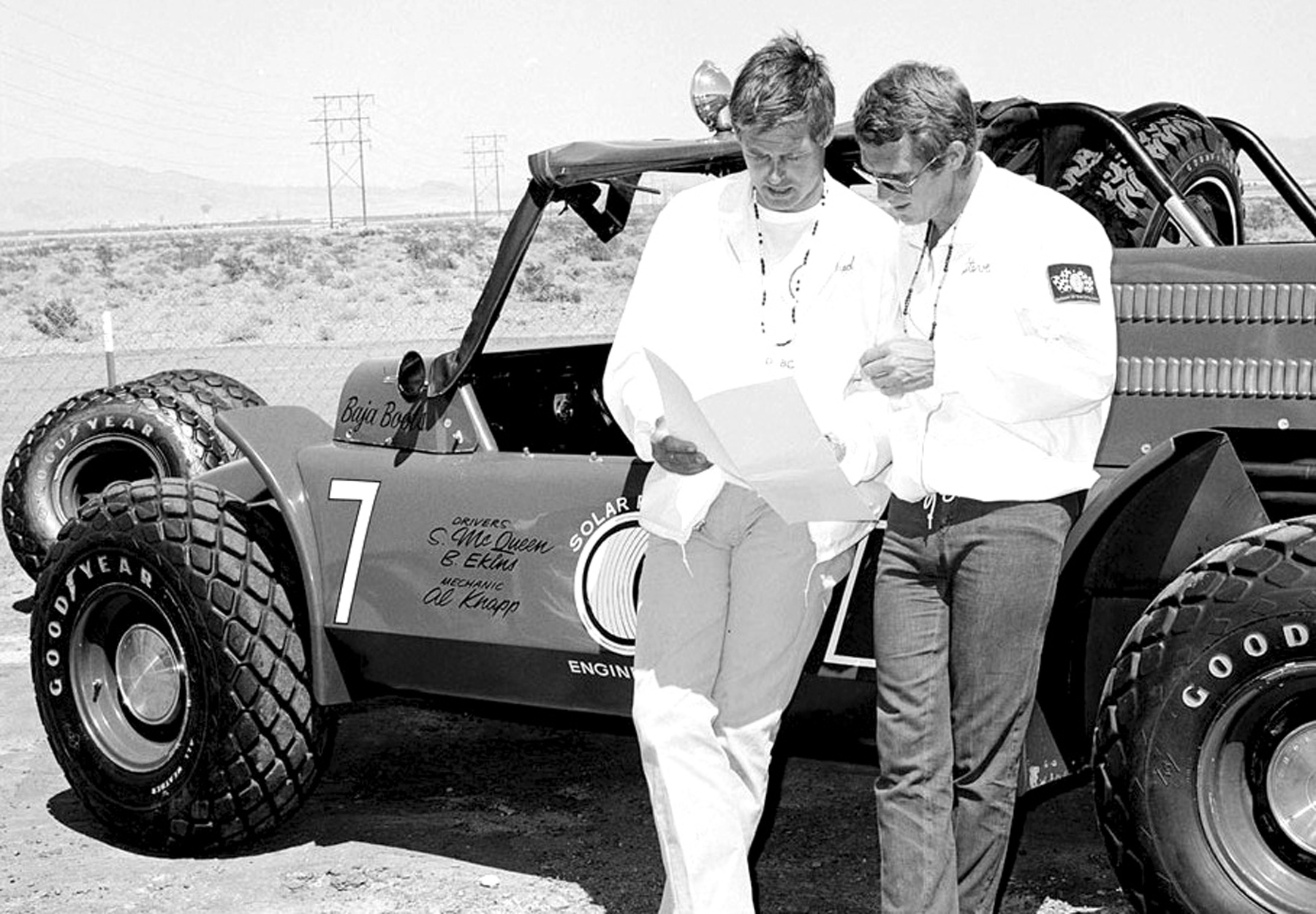 Steve McQueen and his legendary Baja Boot, only 2 were ever made.