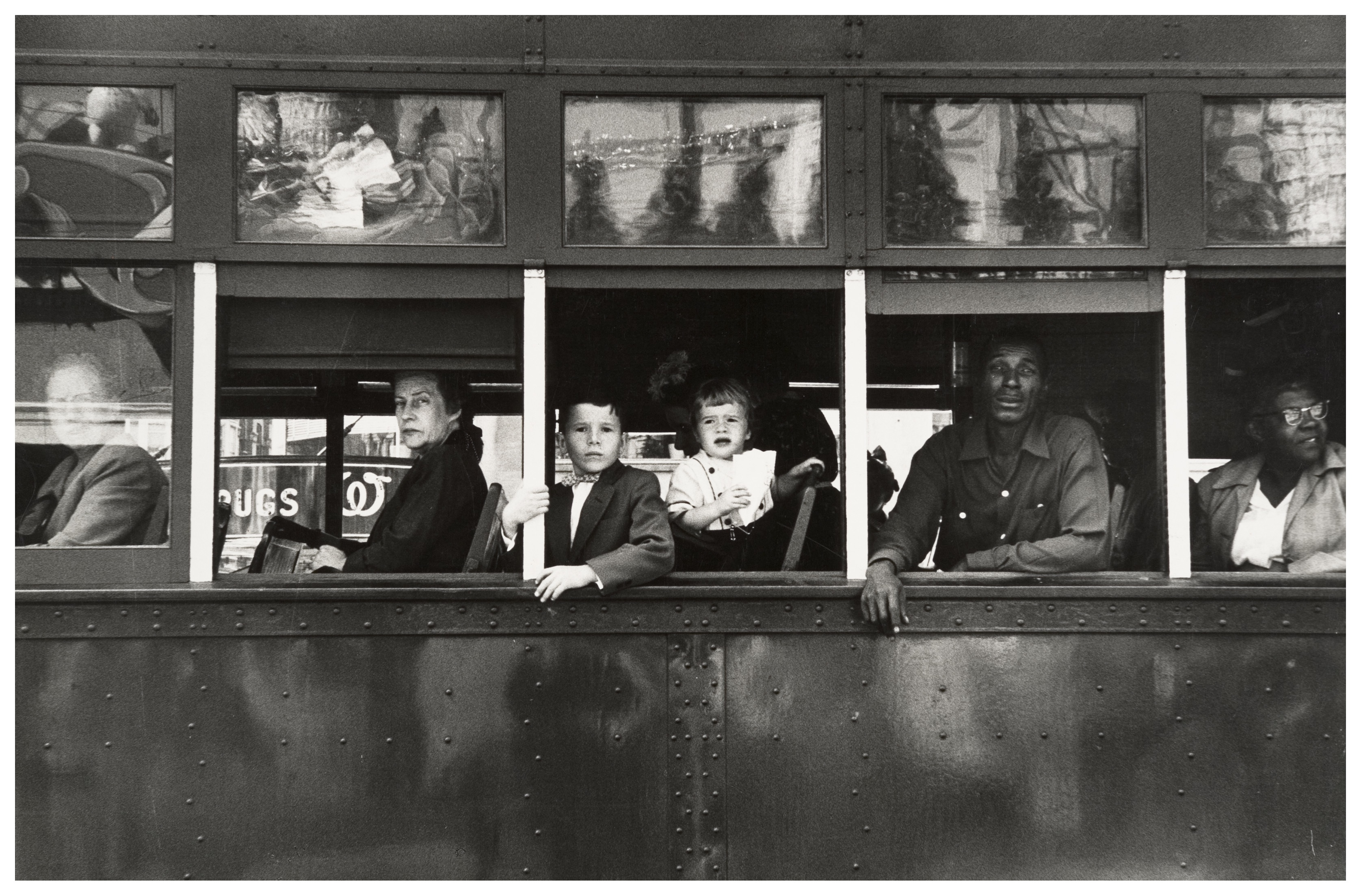 Trolley-- New Orleans, 1955 by photographer Robert Frank.