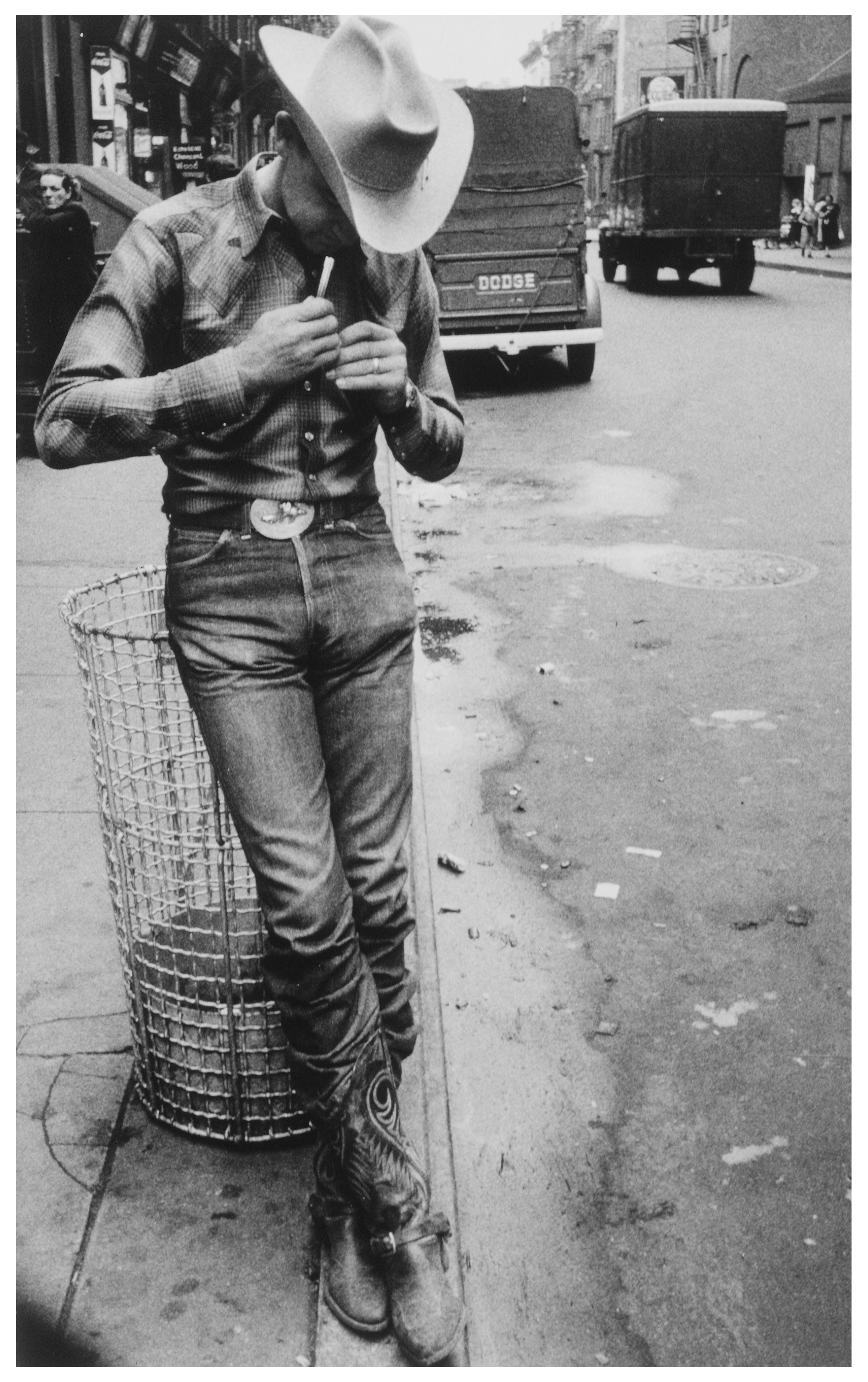 """Rodeo-- New York City, 1954.  By photographer Robert Frank."