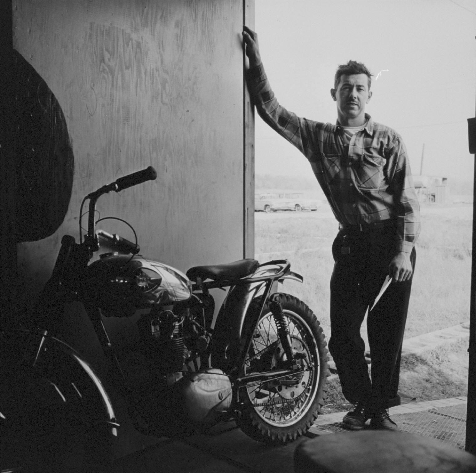 """""""Goodpaster, Hobart, Indiana"""" from The Bikeriders by Danny Lyon  --circa 1963-66."""