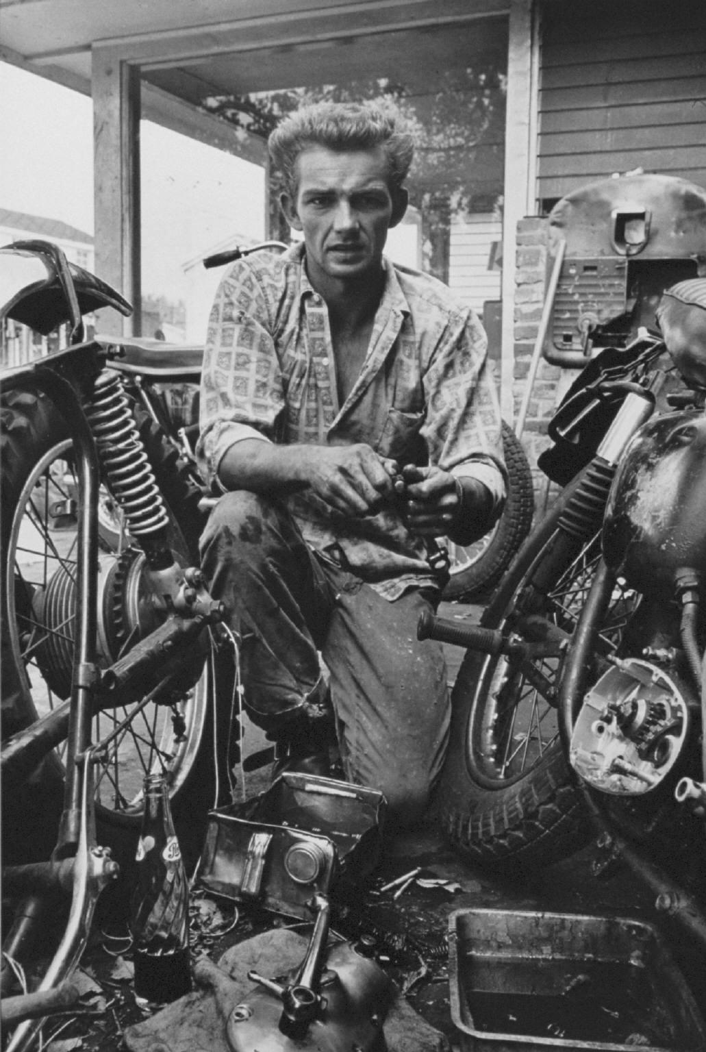 """""""Broken gear box spring, New Orleans"""" from The Bikeriders by Danny Lyon  --circa 1963-66."""