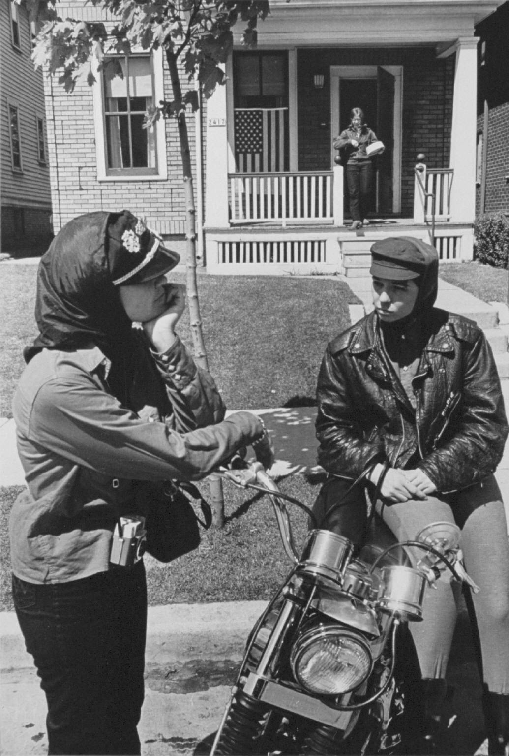 """Memorial Day run, Milwaukee"" from The Bikeriders by Danny Lyon   --circa 1965-66."