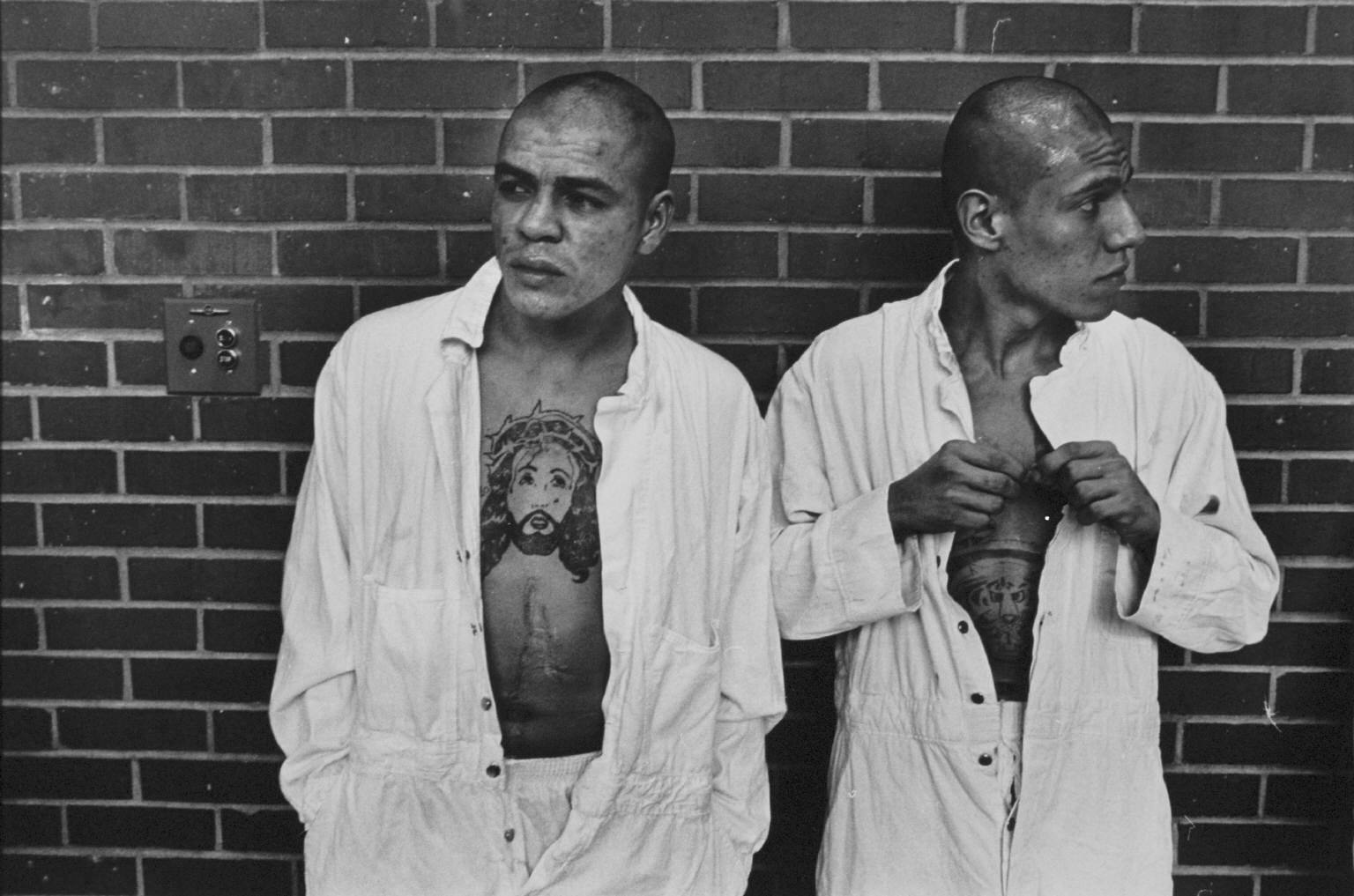 """""""New arrivals from Corpus Christi"""" from Conversations with the Dead by Danny Lyon  --circa 1967-68."""