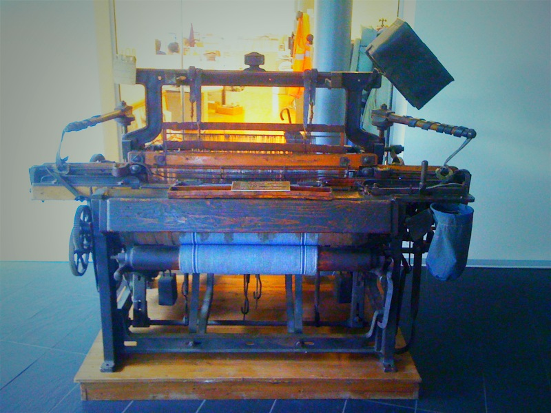 One of the old vintage weaving looms from the early days of Monti.