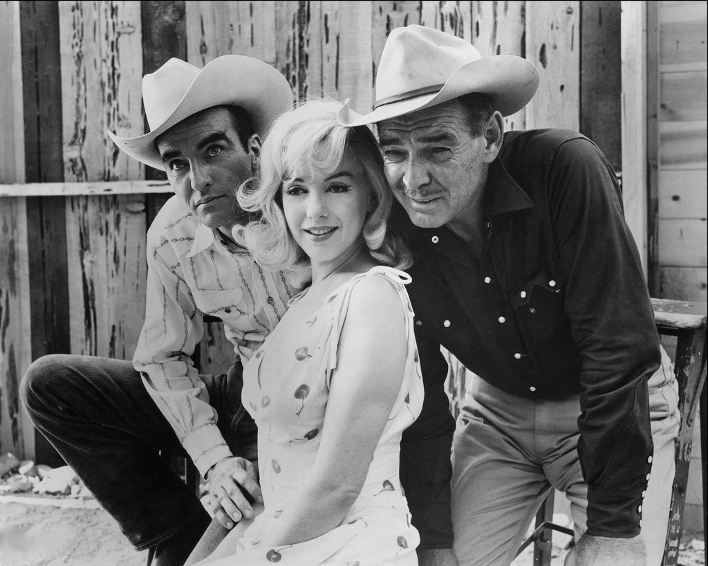 Montgomery Clift Marilyn Monroe Clark Gable The Misfits