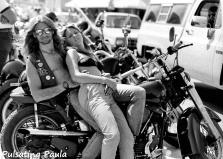 PULSATING PAULA DAYTONA BEACH BIKE WEEK HARLEY BIKER BABE BIKINI