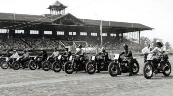 A 1930S 1940S VINTAGE MOTORCYCLE RACES RACING TROG HARLEY INDIAN
