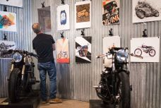 THE HANDBUILT SHOW AUSTIN MOTORCYCLE STEVE WEST THE SELVEDGE YARD OIL AND INK EXPO