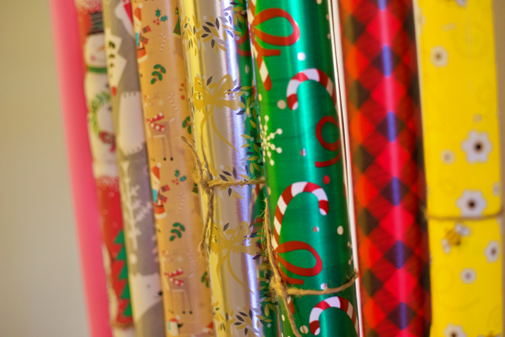A Simple and Cheap Way to Organize Your Wrapping Paper