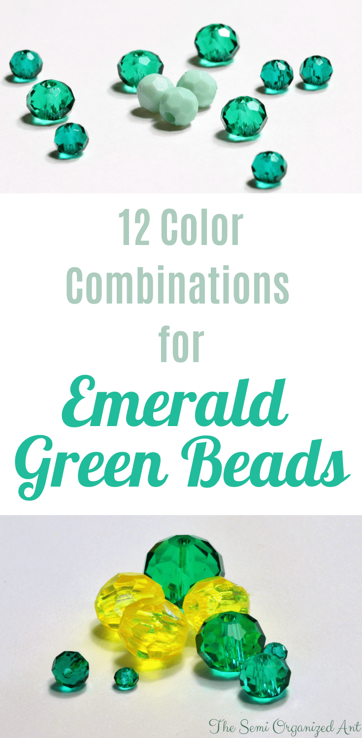 12 Color Combinations for Emerald Green Beads - The Semi Organized Ant