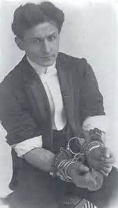 Houdini could escape the cuffs; you can't.