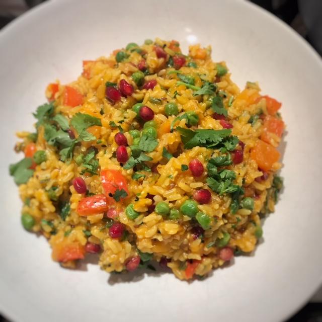 Spicy squash rice