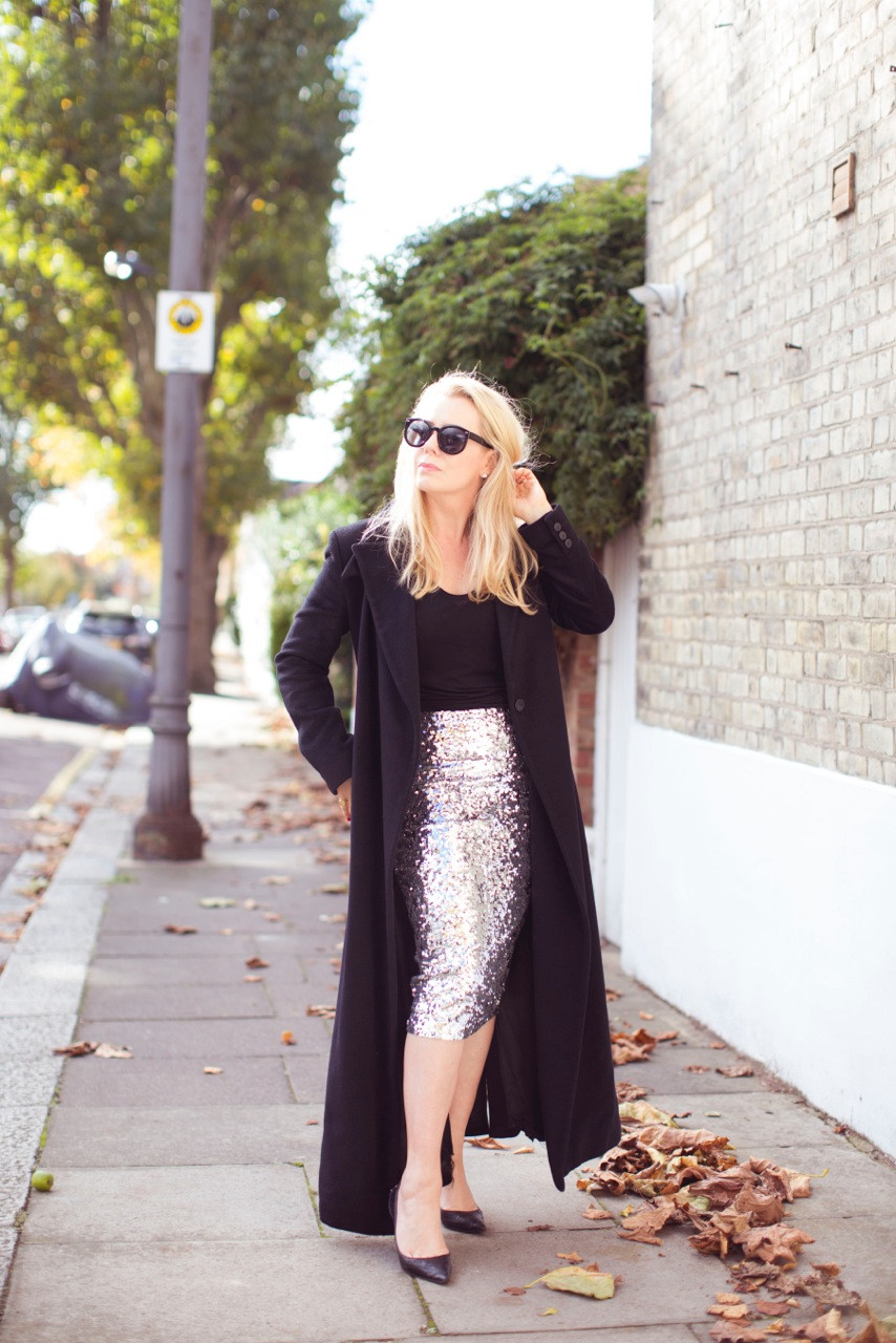 sequinist sequin skirt