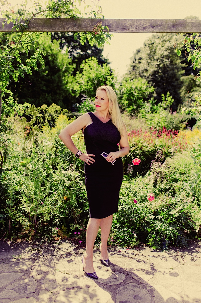 M&S black dress, sequinist