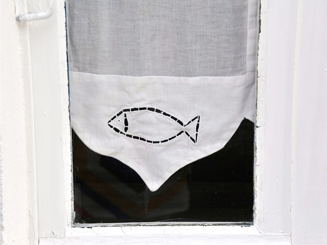 fish lace curtain