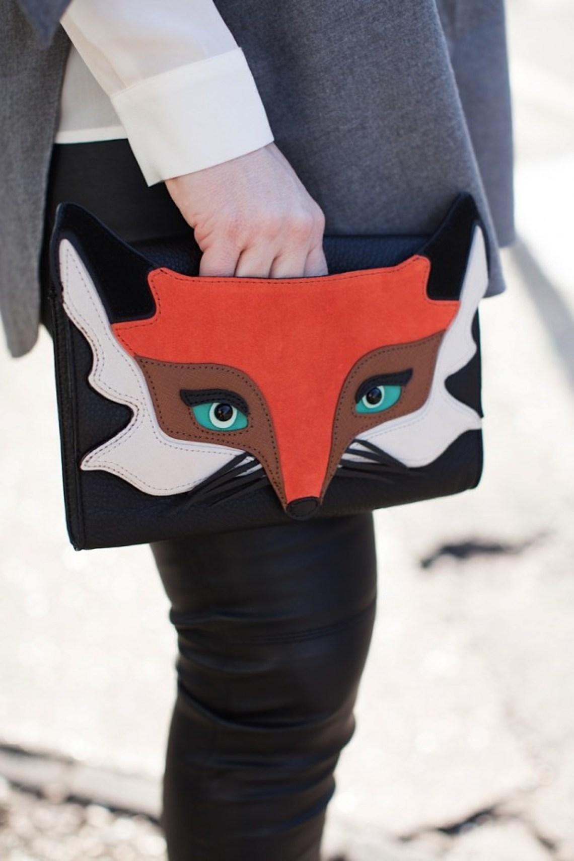 kate spade fox clutch