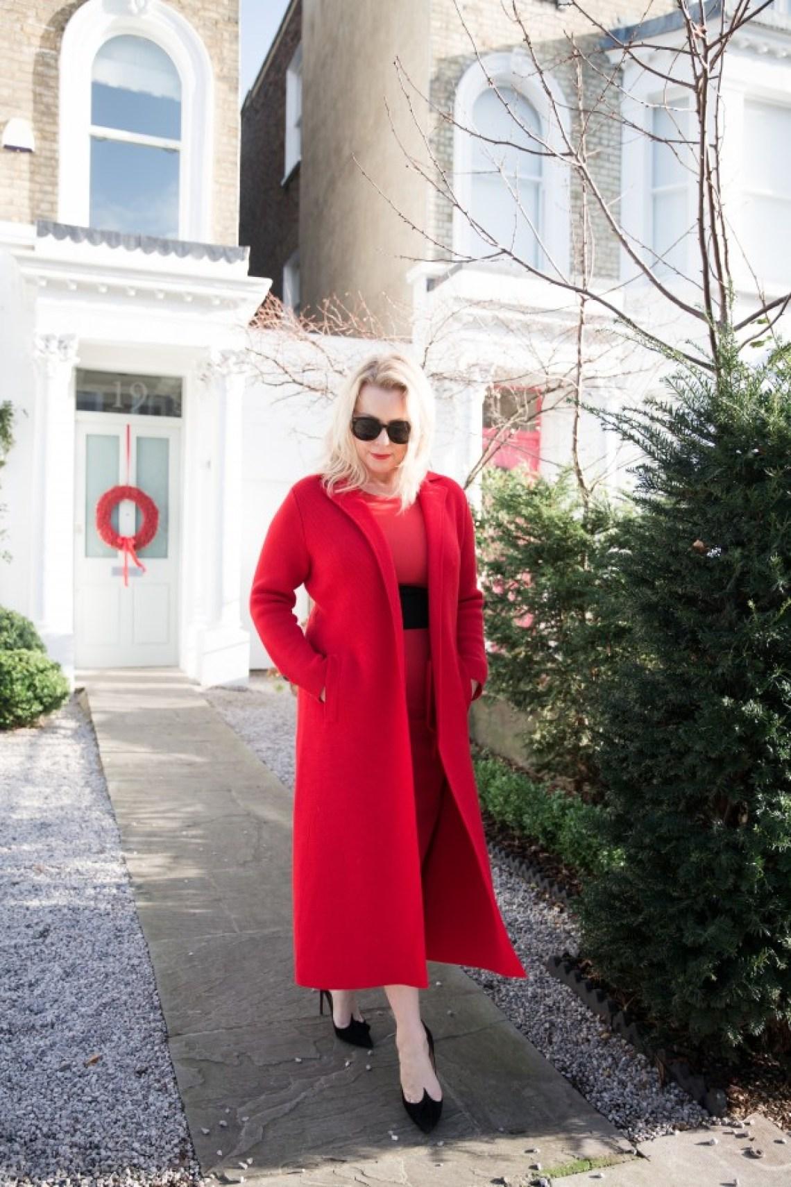 Red Winser London coat