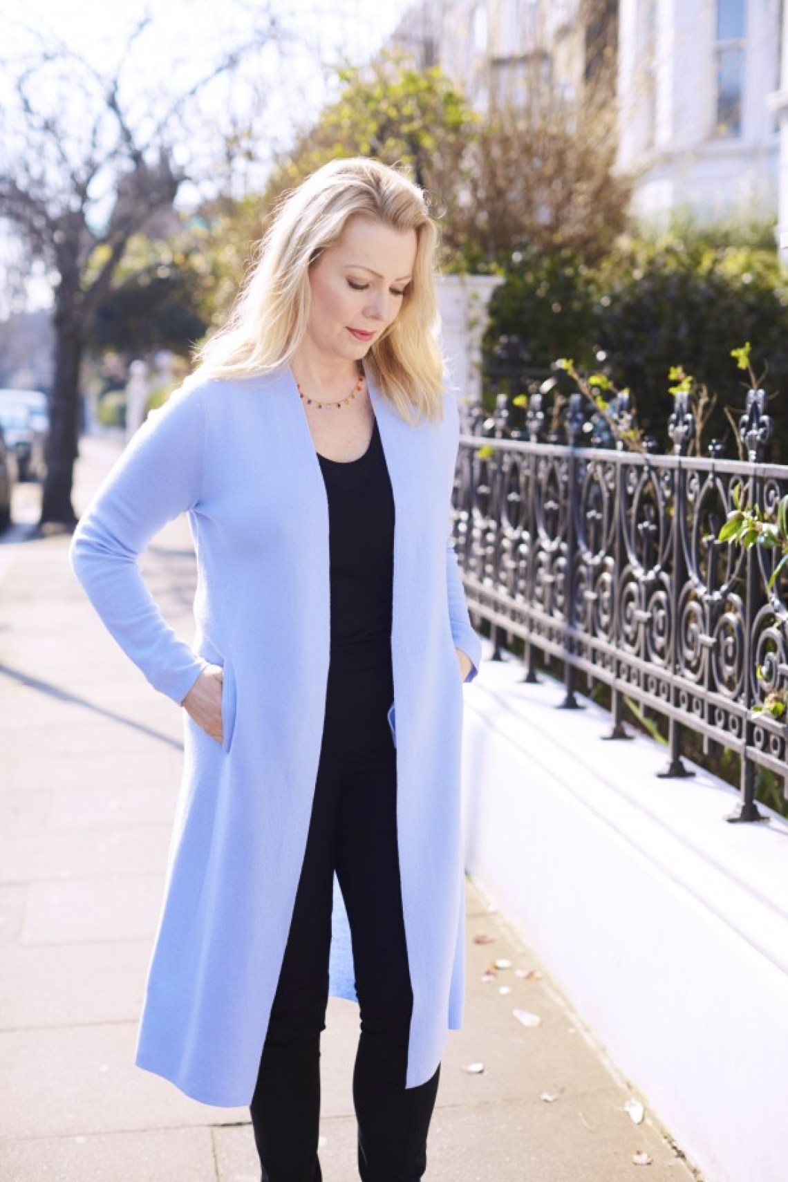 pale blue coat