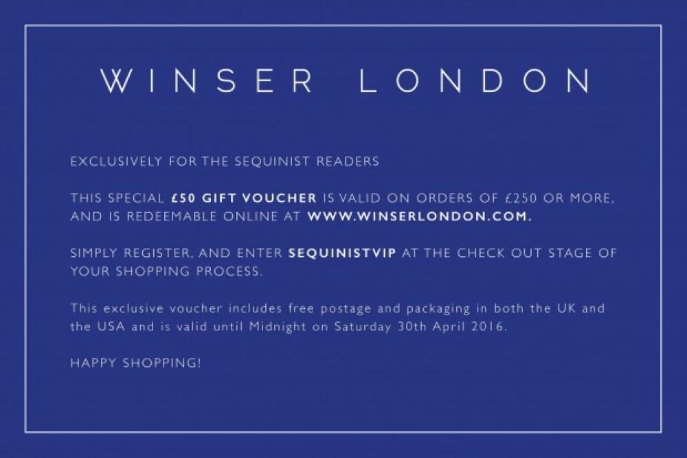 Winser discount voucher
