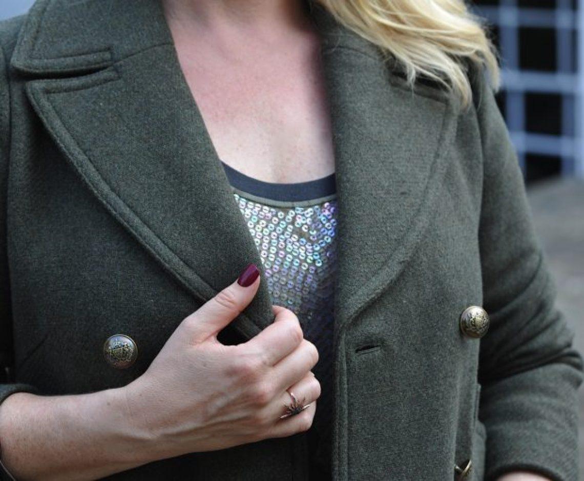 M&S autumn coat detail