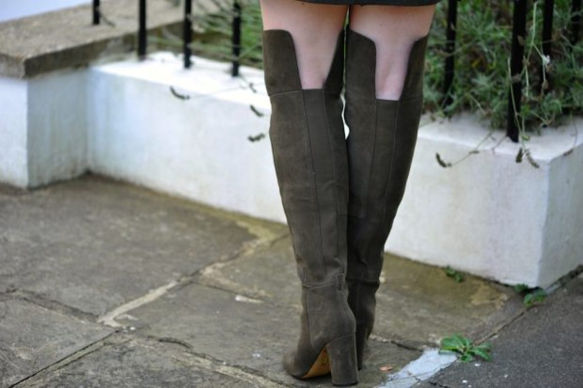 olive M&S boot detail