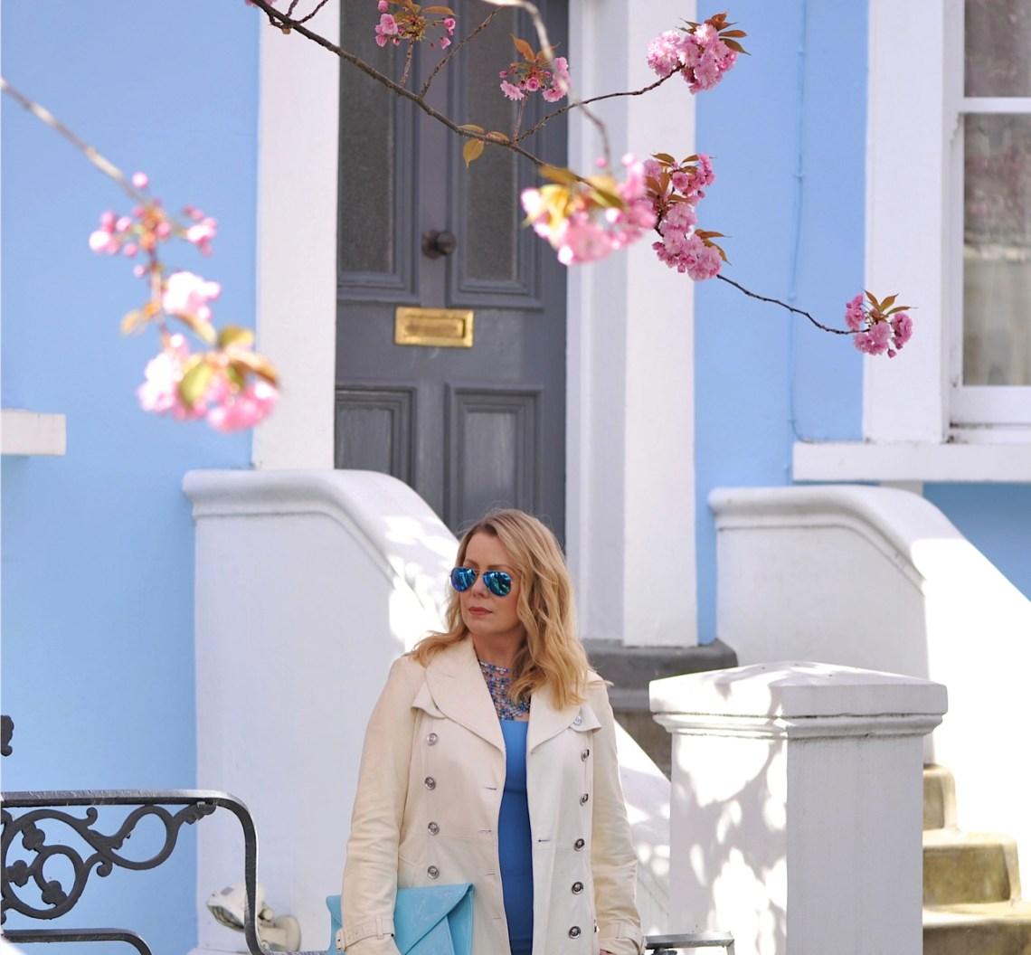 London sky blue house