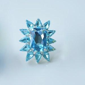 Blue Starburst ring