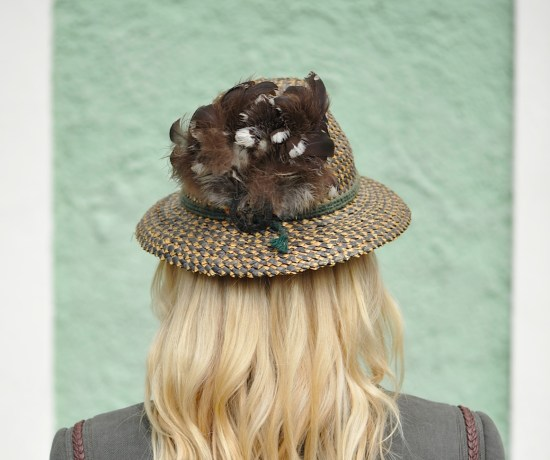 green and gold austrian hat