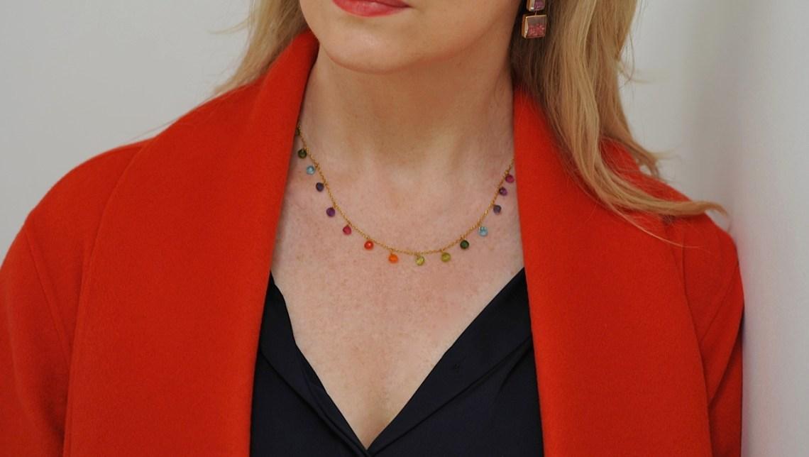 Marie-Helene de Taillac rainbow necklace