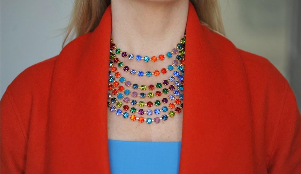 seven strand rainbow necklace