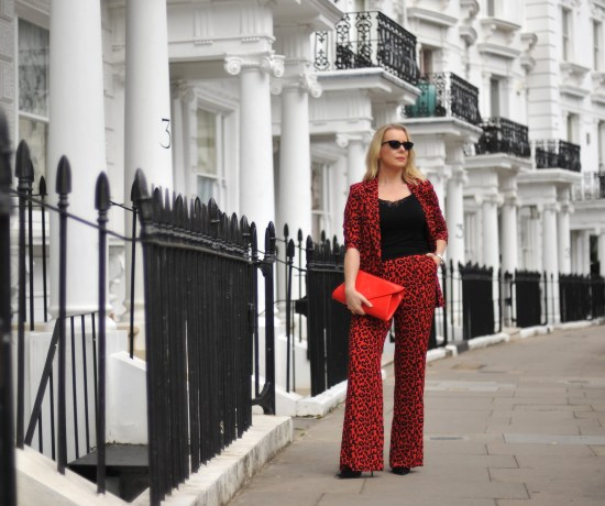 Red Leopard Suit Notting Hill
